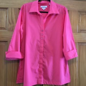 Foxcroft for Appleseed's Coral Blouse - Size 16